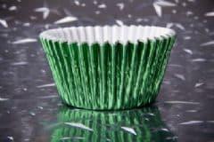 Green Foil Cupcake Case