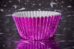 Pink Foil Cupcake Case
