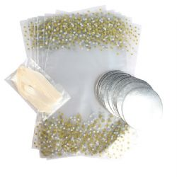 Printed Metallic Spot Cupcake Bags With Ribbon Ties (Pack Of 12)