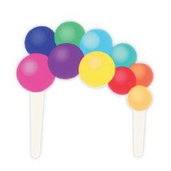 Balloon Garland Gumpaste Pic - 140 X 140mm