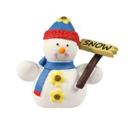 Sugar Snowman With Sign 65mm (Boxed 1)