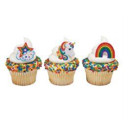 Rainbow & Unicorn Rings (Pack of 24)