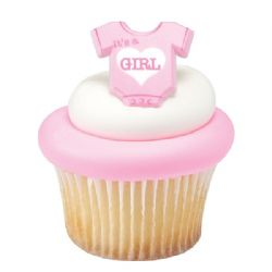 Onesie Its A Girl Ring  Pack of 24