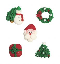 Assorted Christmas Pipings (Boxed 250)