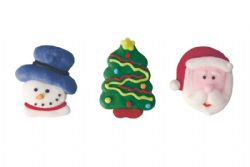 Santa, Snowman And Tree Pipings (Boxed 240)