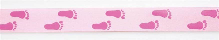 Pink Baby Feet Ribbon