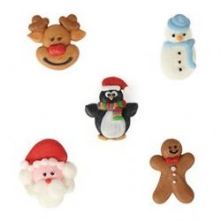 Assorted Christmas Friends Pipings (Boxed 200)