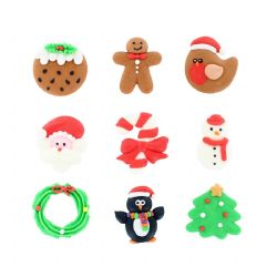 Handmade Royal Icing Decorations - 35mm Box of 90