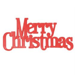 Large Merry Christmas Motto 136 x 60mm (Boxed 24)