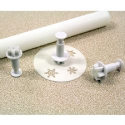 PME Mini Snowflake Plunger Cutter (Set of 3)