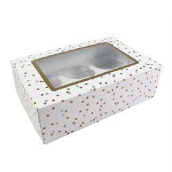 Metallic Spot 6 Or 12 Cupcake/Muffin Box Pack of 5