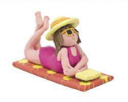 Claydough Lady On Beach LA0028