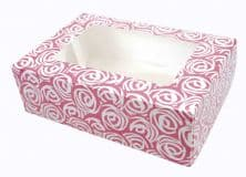 Pink Rose 6 Cavity Cupcake / Muffin  Box