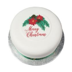 Merry Christmas Sugar Plaque 90mm Box of 45