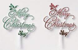 Plastic Merry Christmas Mistletoe Motto Pack of 24