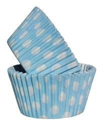 Baby Blue Spot Cupcake Case (Box of 360)