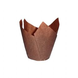 Choc Brown Tulip Muffin Wraps Box of 4800