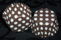 Brown Spot Cupcake Cases