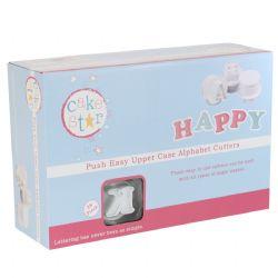 Cake Star Push Easy Cutters - Uppercase Alphabet Set 26 Piece