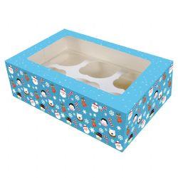6 Cavity Cupcake Box -Christmas Friends (2 Pack)
