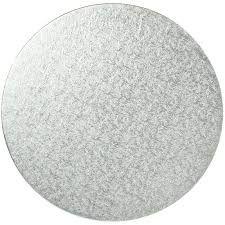 6 Round Hardboard 3mm Silver