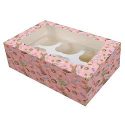 6 Cavity Cupcake Box - Magical Woodland (Boxed 20)