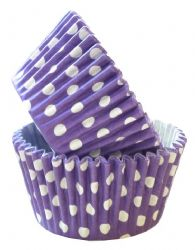 Purple Spot Cupcake Case (Box of 360)
