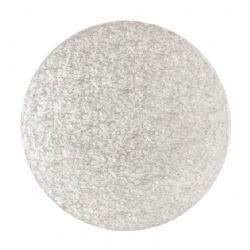8 Round Hardboard 3mm Silver