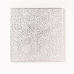 6 Square Hardboard 3mm Silver