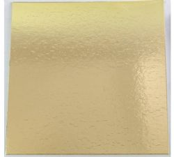 208mm Square Gold Cut Edge Cards (Pack of 100)